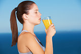 Orange juice is great after a workout