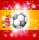 Spain soccer flag