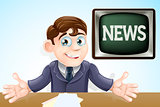 News anchor man