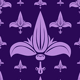 vector seamless pattern with lilies