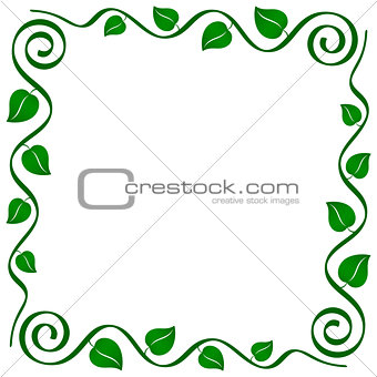 abstract vine frame