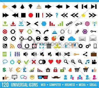 120 universal icons