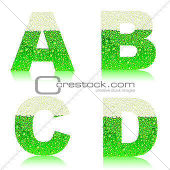 alphabet green beer ABCD