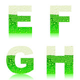 alphabet green beer EFGH