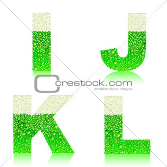 alphabet green beer IJKL