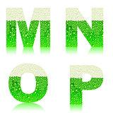 alphabet green beer MNOP