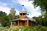 Wooden monastery church. Yaroslavl, Russia