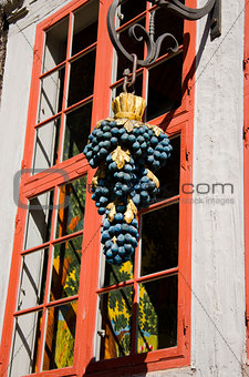 wooden grapes