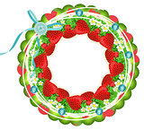 Strawberry circle frame