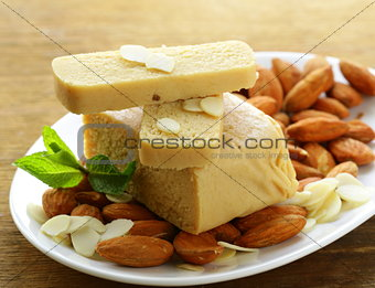 Marzipan almonds bread , wish fresh almond