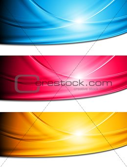 Bright vector waves banners