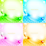 Shiny abstract background set eps10 vector illustration