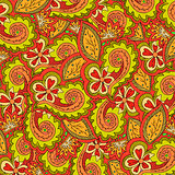 Abstract floral vector colorful ornate