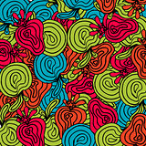 Bright abstract fruits pattern