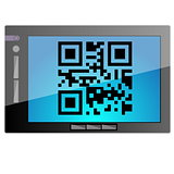 Tablet with QR code
