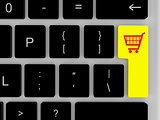 Shopping trolley on enter key