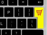 Shopping trolley on enter key