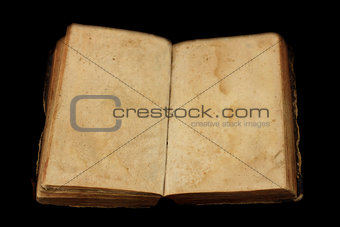 Ancient book with blank pages for custom text
