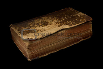 Ancient worn off book