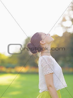 Girl enjoying spring outdoors
