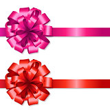 Silk Red And Pink Bows