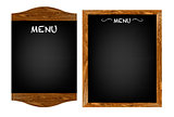 Restaurant Menu Board Set With Text