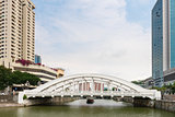 White Elgin Bridge and the Singapore River 