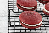 Red Velvet Whoopie Pies