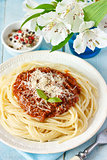Spaghetti bolognese.