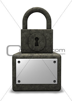 padlock monument