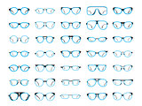 Glasses icons created in Illustrator CS6