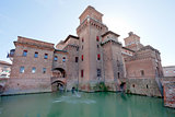 Castello Estense in Ferrara, Italy