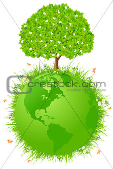 Planet Earth with Tree