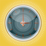 Clocks with pattern.