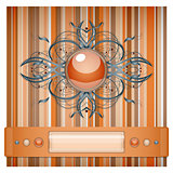 Orange - gray background with pattern.