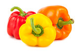 Three ripe sweet peppers