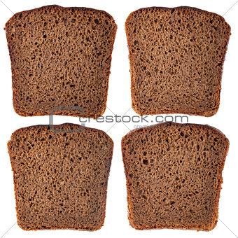 Black rye bread slice