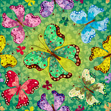 Seamless vivid spring pattern
