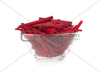 Fresh beet in a bowl