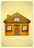 Cartoon Houses Postcard