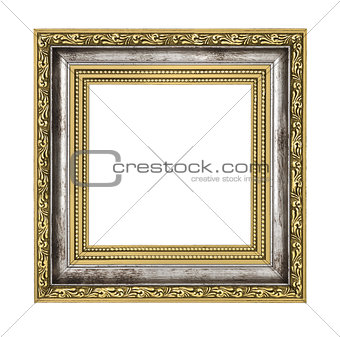 silver and gold frame