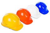 variety of hard hats