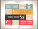 Infographic design - original paper tags