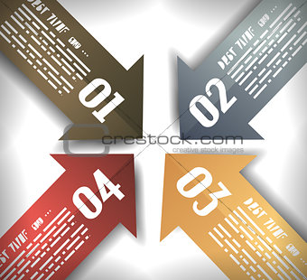 Arrow Designs Infographics Template