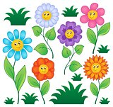 Cartoon flowers collection 1