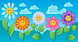 Cartoon flowers theme 1