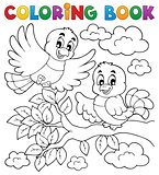 Coloring book bird theme 2