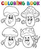 Coloring book mushroom theme 1