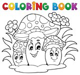 Coloring book mushroom theme 2