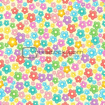 Seamless background flower topic 2